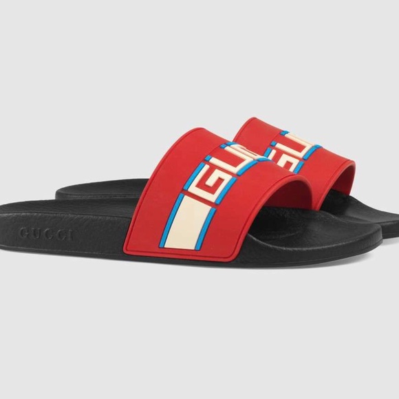 1e55393a95dd71 Gucci Other - Mens Gucci Stripe Rubber Slide Sandal